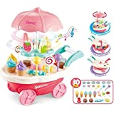 Sajani Battery Operated Ice Cream Trolley Set for Kids with LED Lights and Music (Multi Color)