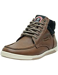 Black Tiger Shoes for Mens Synthetic Leather Boots & Casual Shoes and Sneakers 8060-Brown Shoes