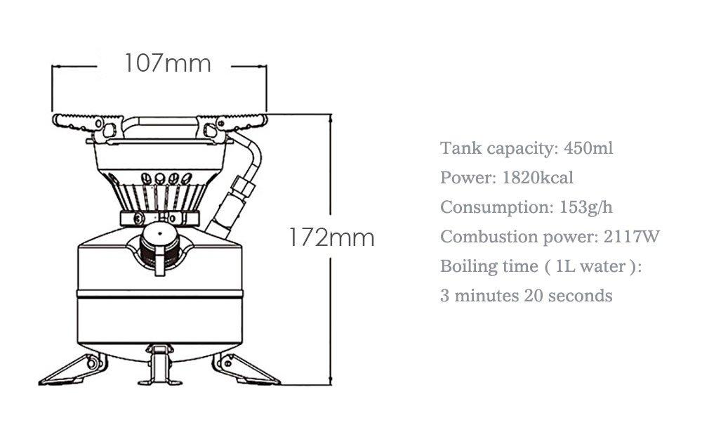 DECHO-C Portable Mini Liquid Fuel Camping Gasoline Stoves BRS-12A Kerosene Burners Diesel Kerosene Oil Stove 2