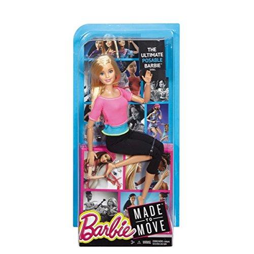 Barbie mattel bambola con movimenti senza limiti, modelli assortiti