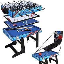 hj Table Multi Jeux 5 en 1 Pliante-Billard Babyfoot Hockey Tennis 1a4c20ca1f62
