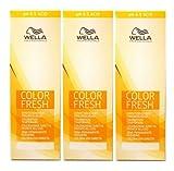 Wella Color Fresh Acid 8/03 hellblond natur-gold 3 x 75 ml Tönungsliquid Gel-Tönung pH 6.5 CF