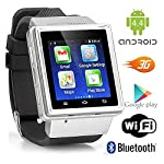 Indigi Android 4.4 Smart Watch Phone Mini Tablet PC w WiFi Bluetooth Google Play Store - GSM Unlocked US Seller
