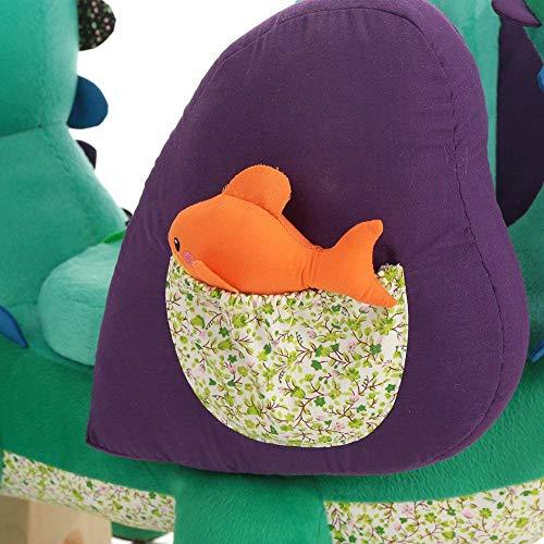 Labebe Baby Schaukelpferd Holz, Schaukelpferd Plüsch, Schaukelpferd Grün Krokodil für Baby 1-11 Jahre Alt, Schaukelpferd Kinder/Schaukel Baby//Schaukeltier Grün/Spielplatz Schaukeltier/Kleine Schaukel - 5