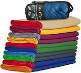 Fit-Flip ultra leicht & kompakt - Microfaser Handtücher mit Tasche | Microfaser Reisehandtuch, Strandhandtuch xxl, Microfaser Badetuch 200x100, Sporthandtuch – schnelltrocknend & saugstark