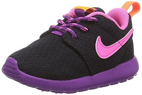 Nike Roshe Run, Mädchen Sneakers, Schwarz (Black/Pink Powder-Bld Berry-Total Orange), 25 EU