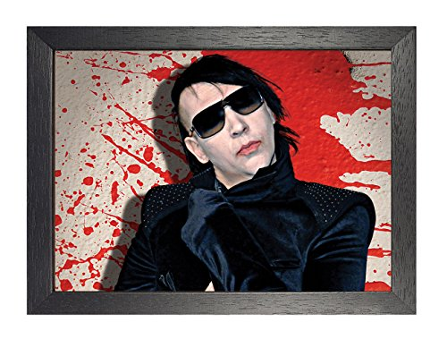 ula bear posters Marilyn Manson 19 Gerahmtes Poster Brian Hugh Warner Rock Metal Folk Blues Rock and Roll Album Cover Design Musikband Beste Foto Bild Einzigartiger Druck