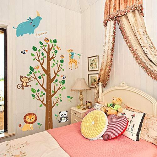 ELGDX Autocollant Mural Dessin Animé Arbre Arbre Grandir Hauteur Mesure Règle Jardin d'enfants Pépinière Enfants Chambre Amovible Decal Décor