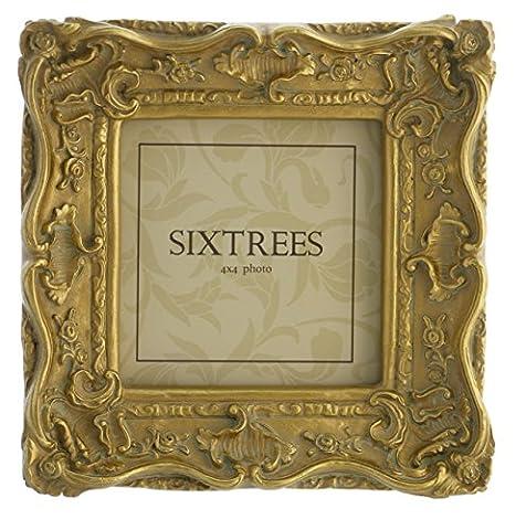 Style shabby chic style très orné cadres photo pour 15,2x 10,2cm (150x 100mm) pour 25,4x 20,3cm (250x 200mm) photos–Chelsea, by Sixtrees., doré, 4