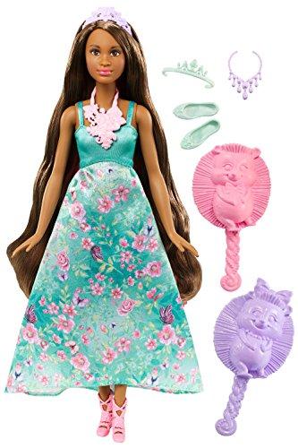 Barbie Mattel DWH43 - Dreamtopia Farbfrisuren Prinzessin Puppe, brünette