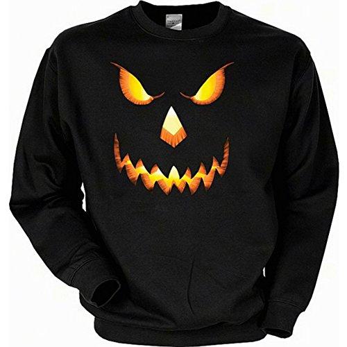 Sweatshirt - Halloween Kürbis - Gruseliger USA Sweater mit Motiv als Geschenk für Halloween