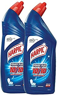Harpic Powerplus Disinfectant Toilet Cleaner, Original, 1 L (Pack of 2)