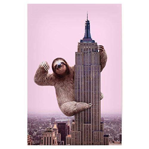faultier poster artboxONE Poster 45x30 cm Film King Sloth Hochwertiger Design Kunstdruck - Bild Film von Paul Fuentes Design