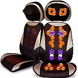 Sedile massaggiante shiatsu massaggiatore schiena con funzione calore, profonda impastazione e massaggio vibrazioni per la sedia da ufficio, l'angolo e l'altezza del poggiatesta regolabili, separabili