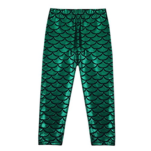 CHICTRY Toddler Kids Girls Little Mermaid Fish Scales Soft Shine Stretchy Leggings Pants
