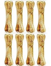 Pet Trends Pressed Dog Bone 6 inches (Medium) - Pack of 8 Bones