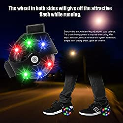 Street Glider Roller Skates with LED Light wheels for Kids Boys & Girls from 6 to 12 Years Age ( Random Colour )