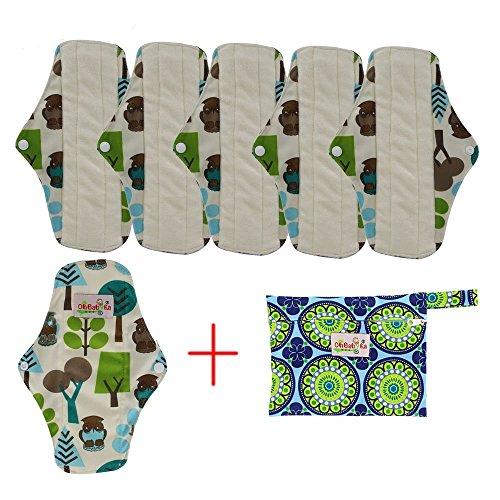 OHBABYKA Bambus wiederverwendbare Damenbinden Pads/Tuch Menstruation Pads für Frauen -