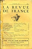 LA REVUE DE FRANCE 10e ANNEE N°17 - JEAN DAMASE. La Femme de Pilate (2me partie). . .G. ANDRÉ-HESSE. L'Amiral Duperré et la Prise d'Alger.J. BROUSSAN-GAUBERT. Studio (Nouvelle)...WLADIMIR D'ORMESSON. Conversations a Berlin.