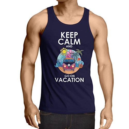 lepni.me Weste Gehen Sie auf Urlaub, Nette Outfits, Strandkleidung, Resortabnutzung (Large Blau Mehrfarben)
