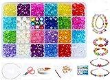 24 Arten Bunte Baby Stringing Perlen Spiel Schnürsystem Perlen Beads Spielzeug DIY Perlenschmuck für Kinder zum Basteln von Schmuck Ketten Armbändern(color1#)