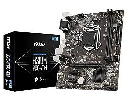 MSI LGA 1151 (300 Series) Intel H310 HDMI SATA 6Gb/s Micro ATX Intel Motherboard (H310M PRO-VDH)