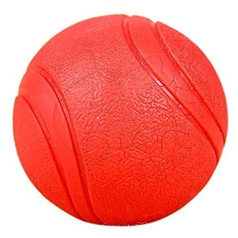 Yusenpet rigide en caoutchouc rebondissante Balle de tennis, flottant récupérer jouet à mâcher pratiquement Indestructible pour chien d'eau piscine jouer, Tennis, taille