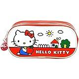 Officiel Case Bonjour Kitty PU Pencil - Vintage Bonjour Kitty Trousses école