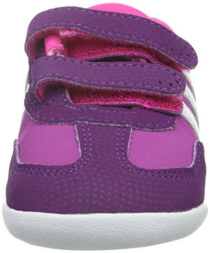 adidas Unisex Baby Dino Crib Lauflernschuhe Violett / Weiß / Rosa (Rosdes / Ftwbla / Rosimp)