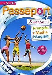Passeport 3 matières de la 5e à la 4e : Français, Maths, Anglais