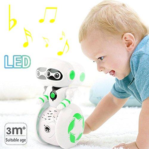 ZLFT Juguetes educativos tempranosTumbler Toys 3 meses + modelo de astronauta Music & multicolor LED Toys Baby Gifts (Random Color)
