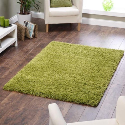 shaggy-rug-lime-green-963-plain-5cm-thick-soft-pile-160cm-x-230cm-5ft-3-x-7ft-7-modern-100-berclon-t