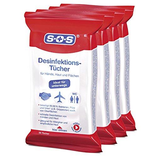 sos-desinfektionstucher-4x25-tucher-zur-desinfektion-von-handen-haut-und-flachen