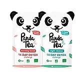 Panda Tea Thé et Infusion Detox Cure Minceur Bio - 28 Sachets/Infusettes - Challenge 14 jours - Certifié Biologique Cadeau