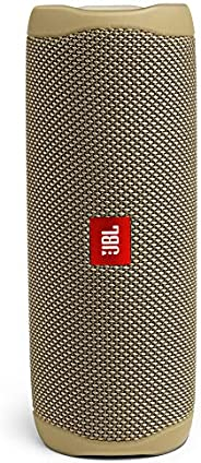 JBL Flip 5 Portable Waterproof Bluetooth Speaker with Hybrid Carrying Case (Sand)
