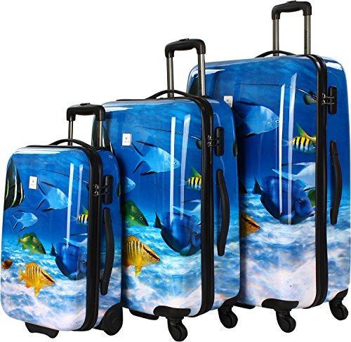 Saxoline Fish Tank 3er Koffer-Set, Blau