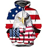 JKWVW Sweatshirts Lustige 3D Foxs Mode Plus Size S-Printed Hoodie Tiger Pullover Trainingsanzüge