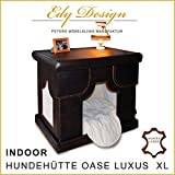Echtes Leder Indoor-Hundehütte OASE Indoor Dog House Handmade in Germany