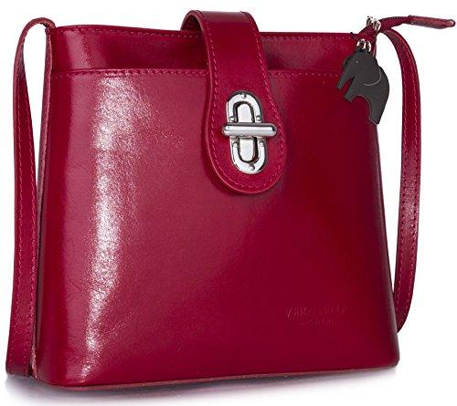 Big Handbag Shop , Sacs bandoulière femme Red (LL431)