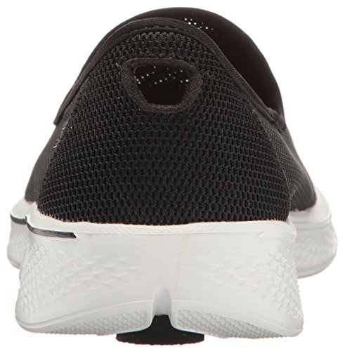 Skechers Go Walk 4 Airy Femmes Synthétique Chaussure de Marche noir/blanc