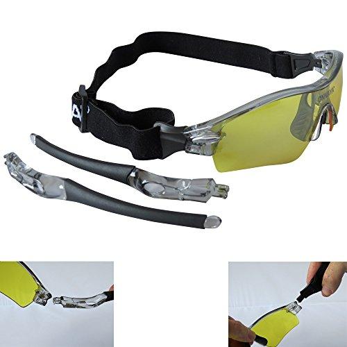 ONVAYA Polarisierte UV400 Sportsonnenbrille mit 5 13 Teilig Sportbrille Radbrille Sonnenbrille mit 5 Wechselgläsern, Grau, One Size - 4