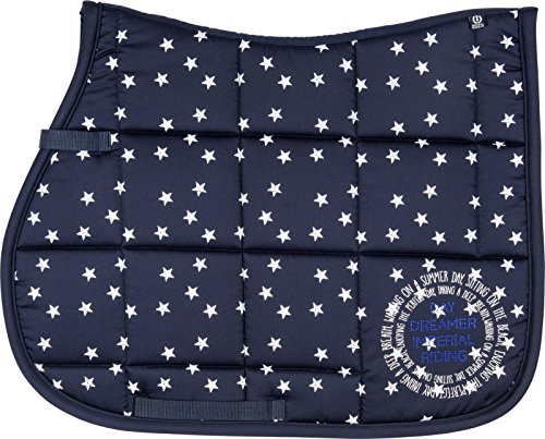 Imperial Riding DR Schabracke Hollywood Baumwolle allover Star Print Sommer 2017 (Warmblut, navy)
