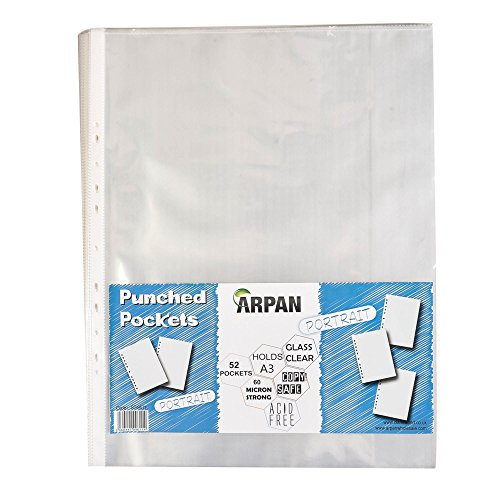 arpan-a3-portrait-strong-plastic-poly-pockets-wallet-sleeves-clear-finish-pack-of-52