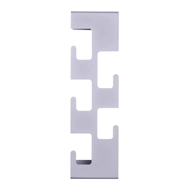 Appendiabiti Verticale.Semuup Appendiabiti Verticale Da Parete In Metallo Con 5 Ganci Disponibile In Nero Bianco Grigio Metallo Grey W 17 Cm H 59 Cm D 10 Cm