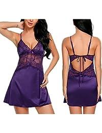 Avidlove Femme Pyjama Bretelle Nuisette Babydoll Lingerie Sexy