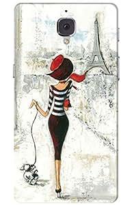 girl Designer Printed Back Case Cover for OnePlus 3