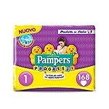 Pampers Progressi Pannolini Newborn, Taglia 1 (2-5 kg), 6 Pacchi da 28 Pezzi