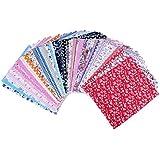 Edealing 1 Conjunto de algodón farbic Craft Diseño Flor Serier Patchwork Tela Fat Quater Bundle Costura Para Tela