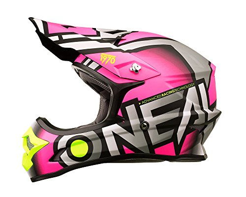 O'Neal 3Series MX Helm Radium Pink Motocross Enduro Quad Offroad Cross, 0623-65, Größe M (57/58...