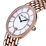 BETFEEDO Luxury Women's Wrist Watch, Rose Gold 316 Stainless Steel Case Band, Japanese Citizen Quartz Movement